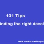 101 Tips for finding the right developer