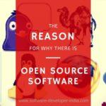 Syy avoimen lähdekoodin ohjelmistojen olemassaoloon