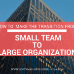 How To Make The Transition From a Small Team To a Large Organization